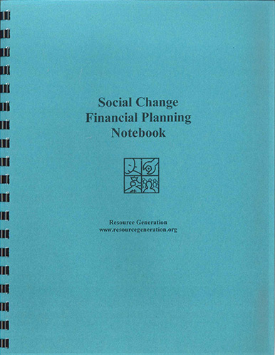 Resource Generation's Social Change Giving Plan Notebook