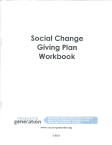 Social Change Financial Planning Notebook