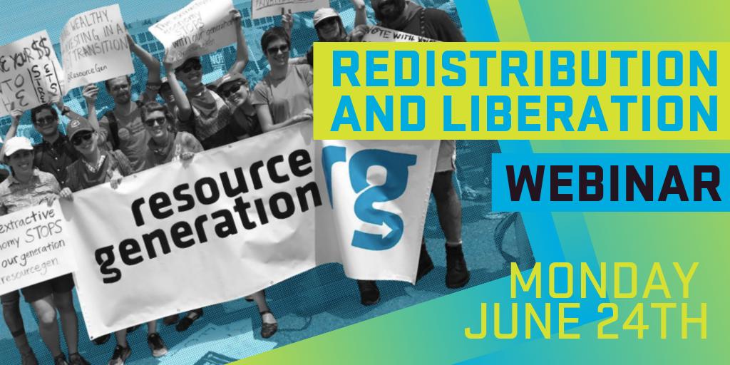 WEBINAR: Redistribution and Liberation